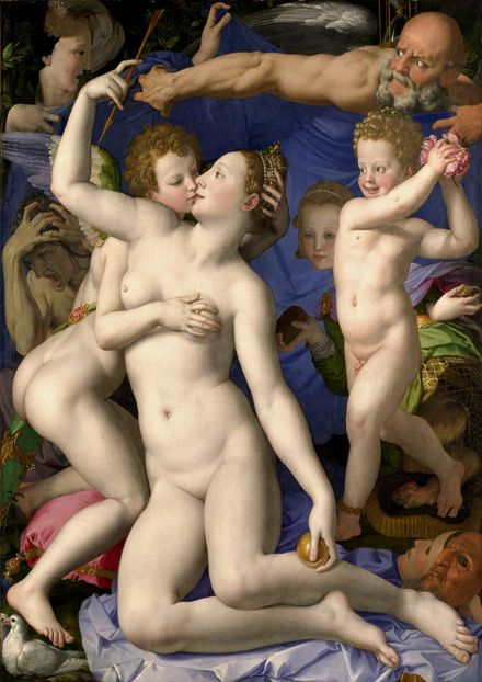 Bronzino, Agnolo: Venus, Cupid, Folly and Time. Fine Art Print/Poster. Sizes: A4/A3/A2/A1 (001975)